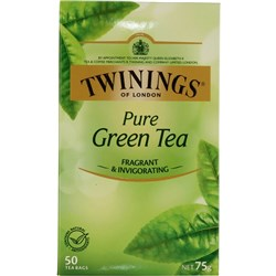 TWININGS PURE GREEN TEA BAGS String & Tag Box of 50
