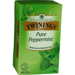 TWININGS PEPPERMINT TEA String & Tag Box of 40