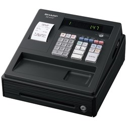 SHARP XEA147B CASH REGISTER 200PLUs Black
