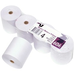 VICTORY CALC/REGISTER ROLLS 76x76x11.5 2Ply Cash Register Pack of 4