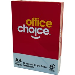 OFFICE CHOICE TINTS COPY PAPER A4 80gsm Blue Ream of 500