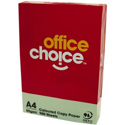 OFFICE CHOICE TINTS COPY PAPER A4 80gsm Green Ream of 500