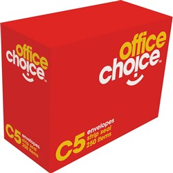OFFICE CHOICE C5 ENVELOPES 229x162mm Strip Seal Gold BX500