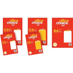 OFFICE CHOICE ENVELOPES RETAIL PACK  C4 WHITE Pack 25
