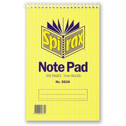 SPIRAX 563A NOTEBOOK REPORTER 200 Page 200x127mm Top Opening