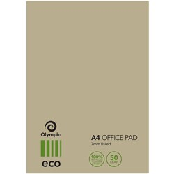 TUDOR ECO RANGE OFFICE PAD A4 WITH COVER