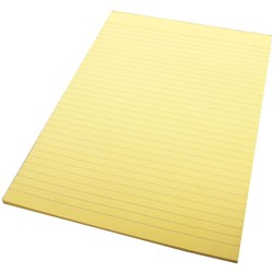 QUILL A4 80LF COLOUR BOND PADS Yellow
