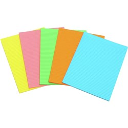 MARBIG WRITING PAD FLURO A4 Assorted 40 Leaf Pack of 10