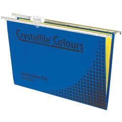 CRYSTALFILE COLOURS SUSP FILES Enviro F/C Complete Blue Pack of 10