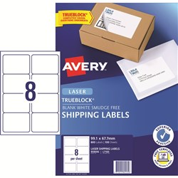 AVERY MAILING LASER LABELS L7165 8 LABELS PER SHEET