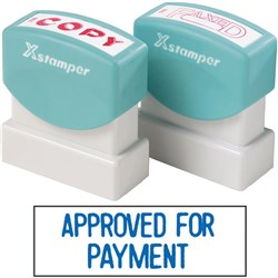 XSTAMPER 1025 APPROVED FOR PAYMENT BLUE