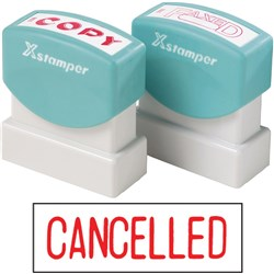 XSTAMPER 1119 CANCELLED - RED