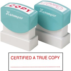XSTAMPER 1541 CERTIFIED A TRUE COPY RED