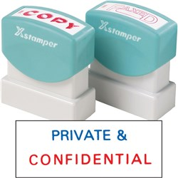 XSTAMPER 2010 PRIVATE & CONFIDENTIAL - RED/BLUE