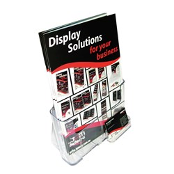 DEFLECT-O BROCHURE HOLDERS PLUS BUSINESS CARD HOLDER A4