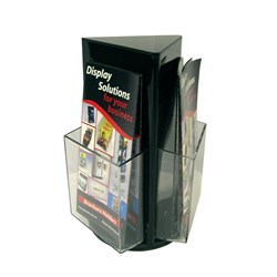DEFLECTO BROCHURE HOLDER DL BLACK COUNTER TOP ROTATING