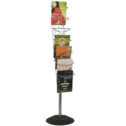 ALBA FLOOR BROCHURE HOLDER STAND 7 TIER