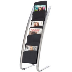 ALBA DELUXE BROCHURE HOLDER FLOOR STAND 6 TIER SINGLE