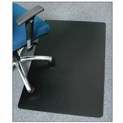 MARBIG ENVIRO CHAIRMAT BLACK RECTANGLE 1200X1500MM