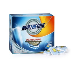 NORTHFORK DISHWASHING TABLETS Premium All In One Box of 50 Tablets
