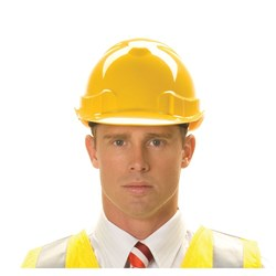 ZIONS Vented Hard Hat LIGHTWEIGHT YELLOW