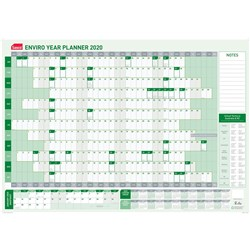 SASCO ENVIRO YEAR PLANNER 100% Recycled 870x610mm DATED 2021