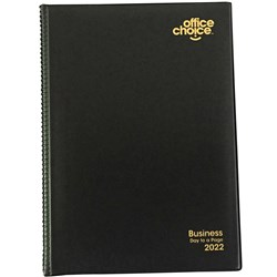 OFFICE CHOICE BUSINESS DIARY PVC A5 Day to Page BLACK 2021 1 Hour Appointment 7am - 8pm