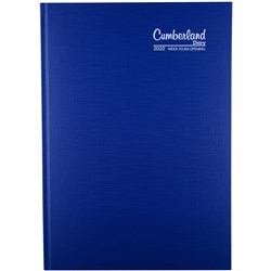 CUMBERLAND PREMIUM CASEBOUND A4 Week to Open Blue 2021 1 Hour Appoint 8am - 6pm