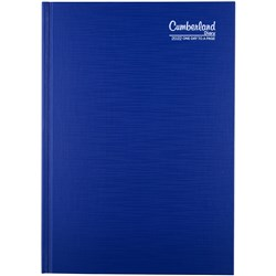 CUMBERLAND PREMIUM CASEBOUND A5 Day to Page Blue 2021 30 Min Appoint 8am-7.30pm