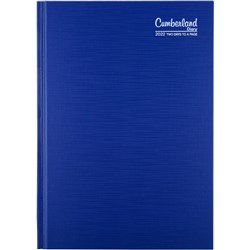 CUMBERLAND PREMIUM CASEBOUND A5 2 Days to Page Blue 2021 1Hour Appointment 7am - 7pm