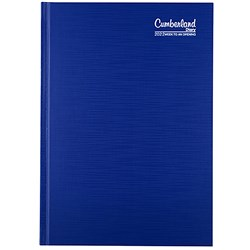 CUMBERLAND PREMIUM CASEBOUND A5 Week to Open Blue 2021 1 Hour Appoint 8am - 6pm