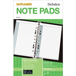 DEBDEN DAYPLANNER REFILL Notepad - White 216x140mm Pack 2