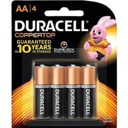 DURACELL ALKALINE BATTERIES CARDED AA PKT4