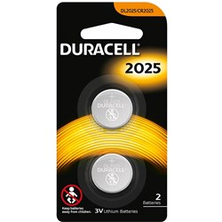 DURACELL SPECIALITY BUTTON Battery DL2025 Lithium 2 pack