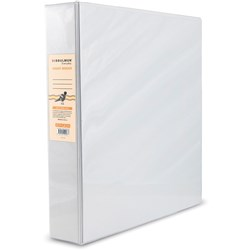BIBBULMUN A4 INSERT BINDER 2D 50mm White Replaces Office Choice