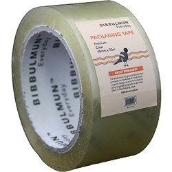 BIBBULMUN PACKAGING TAPE Premium 48mmX75m Clear