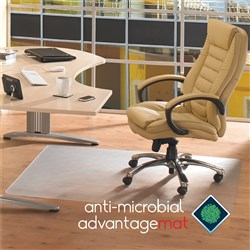 FLOORTEX ANTI-MICROBIAL Chairmat 900x1200mm Hard Floor