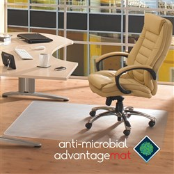 FLOORTEX ANTI-MICROBIAL Chairmat 900x1500mm Hard Floor