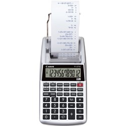 Canon 12 Digit Printing Calculator Silver