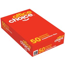 OFFICE CHOICE SUSPENSION FILES F/C 100% Recycled Complete Box 50