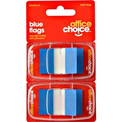 OFFICE CHOICE BLUE FLAGS (D)