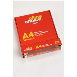 OFFICE CHOICE A4 COPYSAFE SHEET PROTECTORS BULK BOX 300