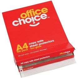 OFFICE CHOICE A4 SHEET PROTECTORS BOX 100