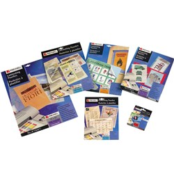REXEL LAMINATING POUCHES KEY CARD 2X180MIC 63X93