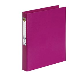 MARBIG BRIGHT PE A4 BINDER 2D Ring 25mm Pink