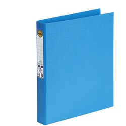 MARBIG BRIGHT PE A4 BINDER 2D Ring 25mm Sky Blue