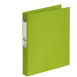 MARBIG BRIGHT PE A4 BINDER 2D Ring 25mm Lime
