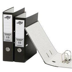 OFFICE CHOICE LEVER ARCH FILE F/C Paper Spine Black