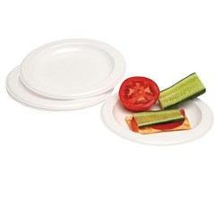 MARBIG DISPOSABLE PLASTIC PLATE 260MM Pack 25