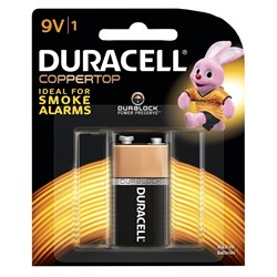 DURACELL ALKALINE BATTERIES CARDED 9 VOLT